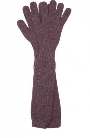 Удлиненные перчатки из кашемира Kashja` Cashmere. Цвет: фиолетовый