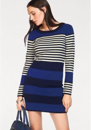 Платье BRUNO BANANI. Цвет: королевский синий/темно-синий/цвет белой шерсти