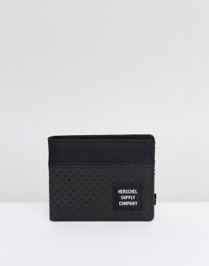 Herschel Supply Co Складывающийся вдвое бумажник. Цвет: черный