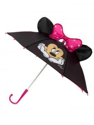 Зонт детский Минни Маус, с ушами Disney. Цвет: черный, малиновый