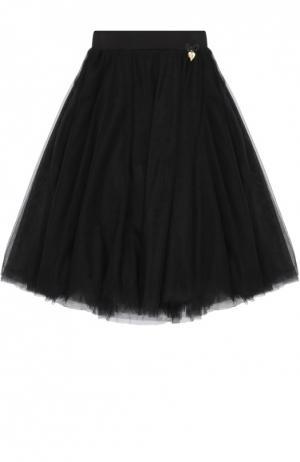Пышная многоярусная юбка Angel's Face. Цвет: черный