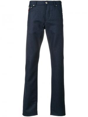 Классические брюки Isaia. Цвет: синий
