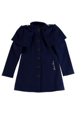 Пальто Bodi Bear. Цвет: синий