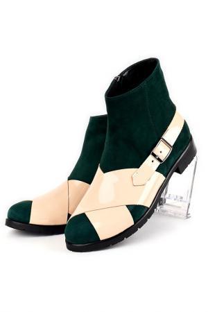 Ботинки Riccorona. Цвет: зелено-бежевый