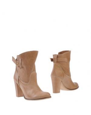Полусапоги и высокие ботинки SCOOP. Цвет: песочный