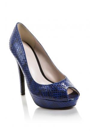 Туфли из кожи питона 160892 Bourne. Цвет: синий