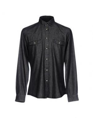 Джинсовая рубашка SIVIGLIA. Цвет: стальной серый