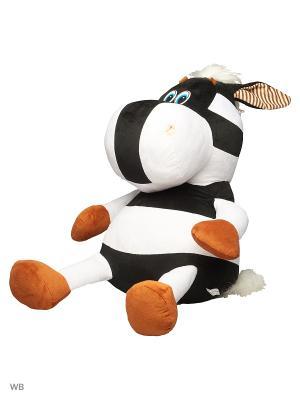 Мягкая игрушка Мега Зебрик 47.2.1 цвет черно-белый Malvina. Цвет: черный, белый