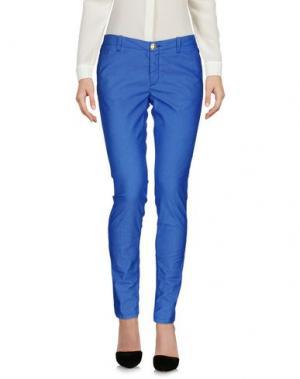 Повседневные брюки NO LAB. Цвет: синий