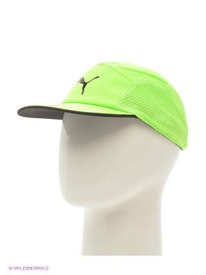 Бейсболка P-Disc-Fit runner cap Puma. Цвет: салатовый