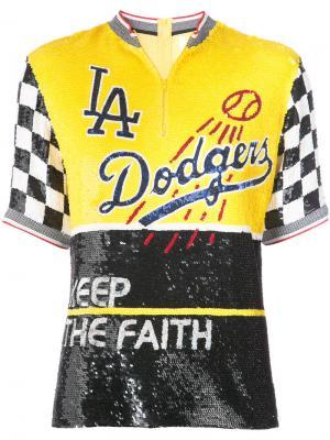 Топ с пайетками Dodgers Ashish. Цвет: жёлтый и оранжевый