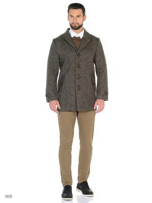 Пальто мужское зимнее Пряник. Цвет: серый