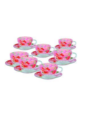 Чайный сервиз на 6 персон BOHMANN. Цвет: бледно-розовый