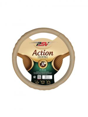 Оплётка на руль PSV ACTION Fiber (Бежевый) М. Цвет: бежевый