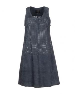 Короткое платье STOULS. Цвет: грифельно-синий