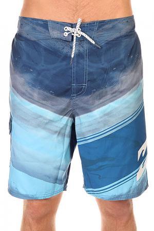 Шорты пляжные  Kramer Layback 20 Navy Billabong. Цвет: синий,голубой