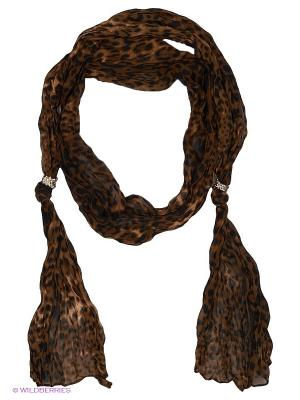 Платок Oodji. Цвет: коричневый