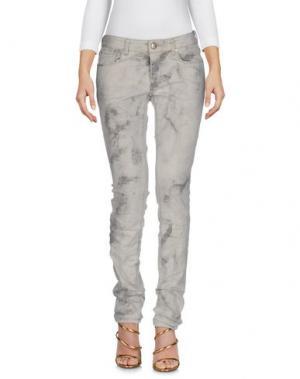 Джинсовые брюки M.GRIFONI DENIM. Цвет: бежевый