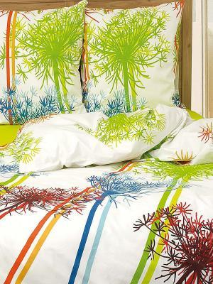 Постельное белье Неон Тет-а-Тет. Цвет: зеленый, белый, синий