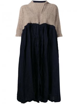 Shortsleeved coat Daniela Gregis. Цвет: синий