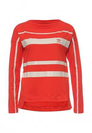 Лонгслив adidas Originals. Цвет: красный