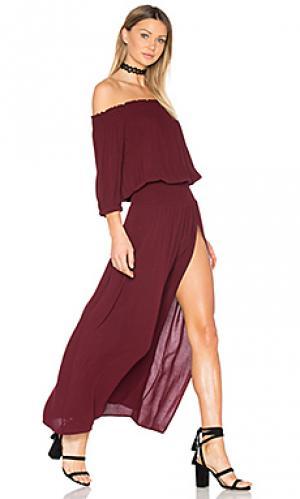 Платье bandida Stillwater. Цвет: вишня