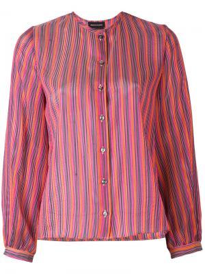 Рубашка в полоску Vanessa Seward. Цвет: розовый и фиолетовый