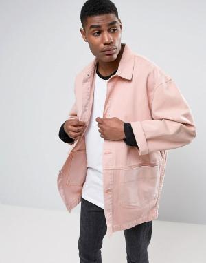 ASOS Розовая джинсовая куртка. Цвет: розовый