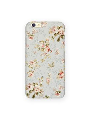 Чехол для IPhone 6 Розы на голубом Mitya Veselkov. Цвет: серебристый, красный