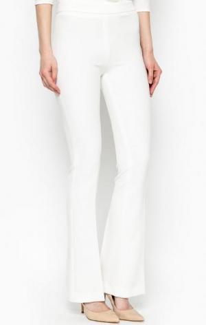 Расклешенные белые брюки Gaudi. Цвет: белый