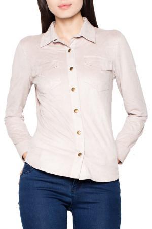 Рубашка Venaton. Цвет: бежевый