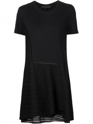 Платье с ажурной панелью Thakoon. Цвет: чёрный