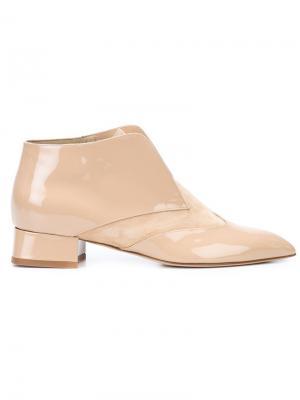 Ботинки по щиколотку Olgana. Цвет: телесный