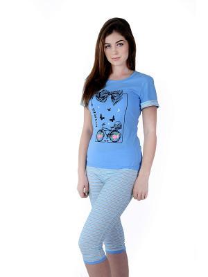 Пижама Малина. Цвет: синий