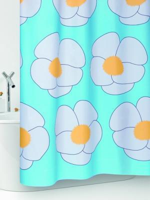Штора д/ванн 180х200 Yoko (шт.) Bacchetta. Цвет: голубой, белый, желтый