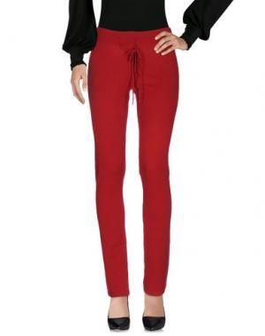 Повседневные брюки BE YOU by GERALDINE ALASIO. Цвет: красный