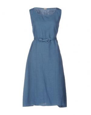 Платье до колена A.B APUNTOB. Цвет: пастельно-синий
