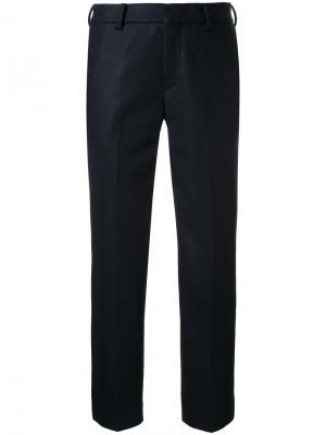 Укороченные брюки 08Sircus. Цвет: чёрный