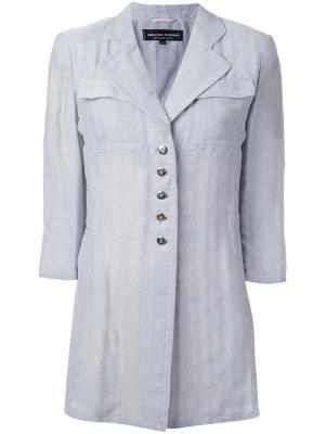 Пиджак с укороченными рукавами и жаккардовым эффектом Jean Louis Scherrer Vintage. Цвет: серый