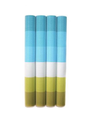 Плейсмат, 4 шт DiMi. Цвет: голубой, белый, зеленый