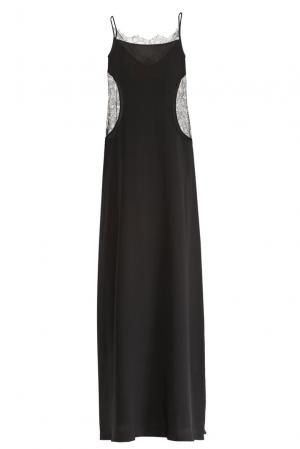 Платье-комбинация из шелка 159251 Mari Axel. Цвет: черный