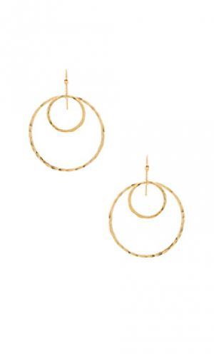 Серьги janice Mimi & Lu. Цвет: металлический золотой