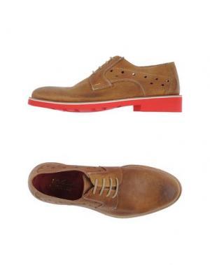 Обувь на шнурках GABARDINE. Цвет: верблюжий