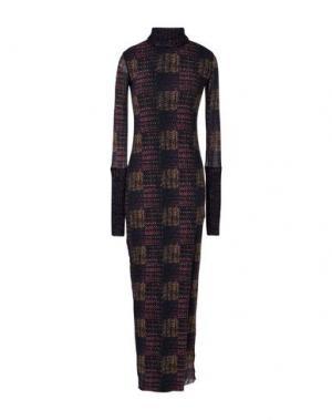 Длинное платье FUZZI. Цвет: фиолетовый
