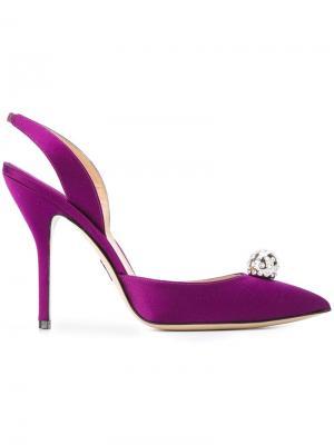 Декорированные атласные туфли Paul Andrew. Цвет: розовый и фиолетовый
