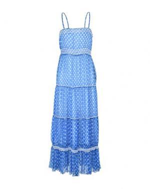 Длинное платье LOVE MOSCHINO. Цвет: лазурный