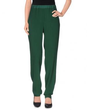 Повседневные брюки ANTONELLI. Цвет: зеленый