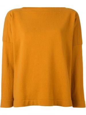 Вязаный джемпер Studio Nicholson. Цвет: жёлтый и оранжевый