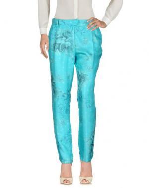 Повседневные брюки ROBERTA SCARPA. Цвет: бирюзовый