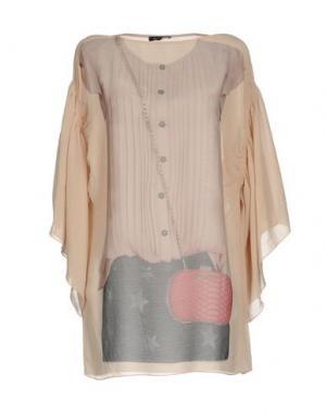 Блузка DENNY ROSE. Цвет: бежевый